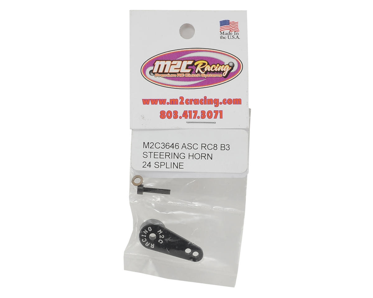 M2C Racing Associated RC8B3 Aluminum Steering Servo Horn (24T-Hitec)
