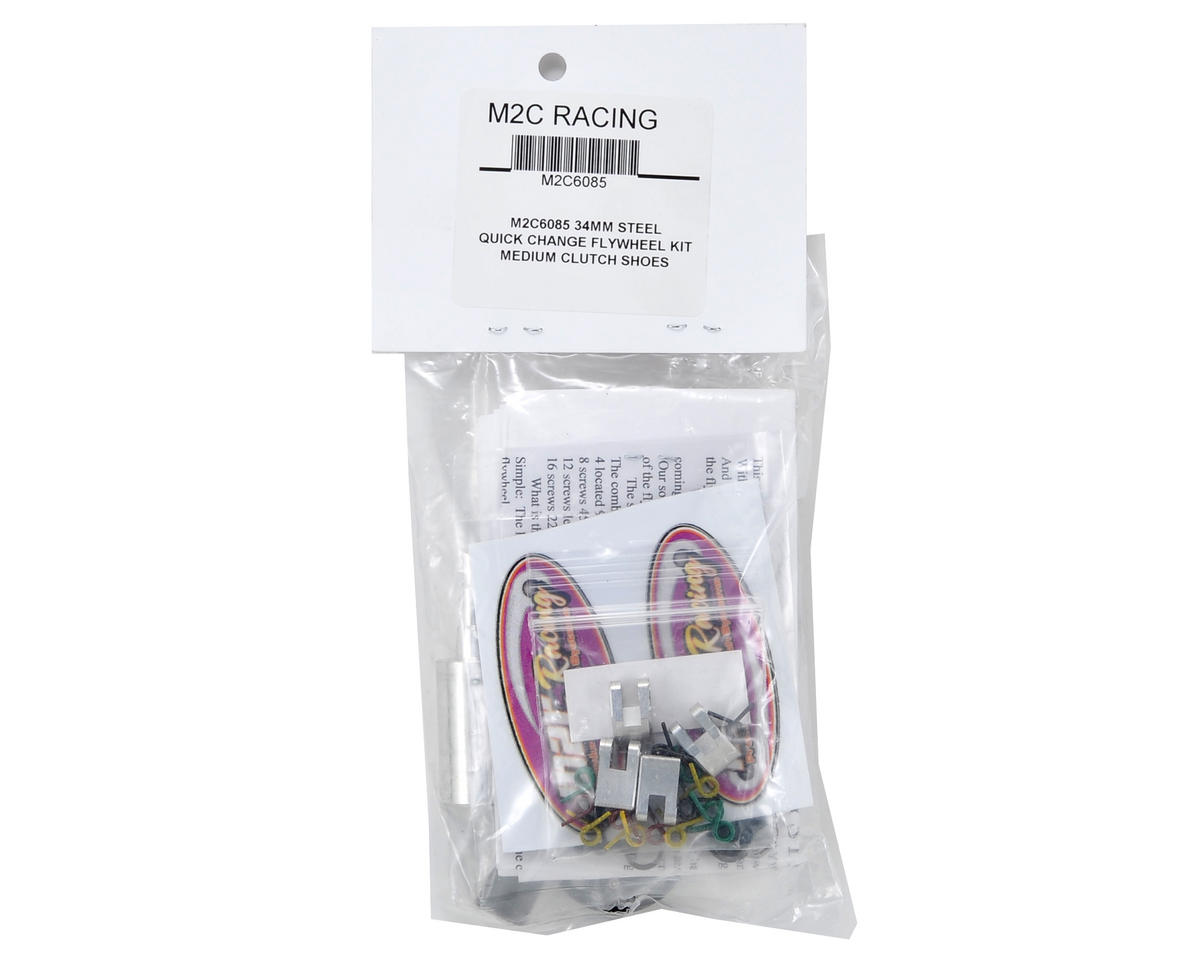 M2C Racing 34mm Steel Quick Change 4 Shoe Adjustable Clutch System