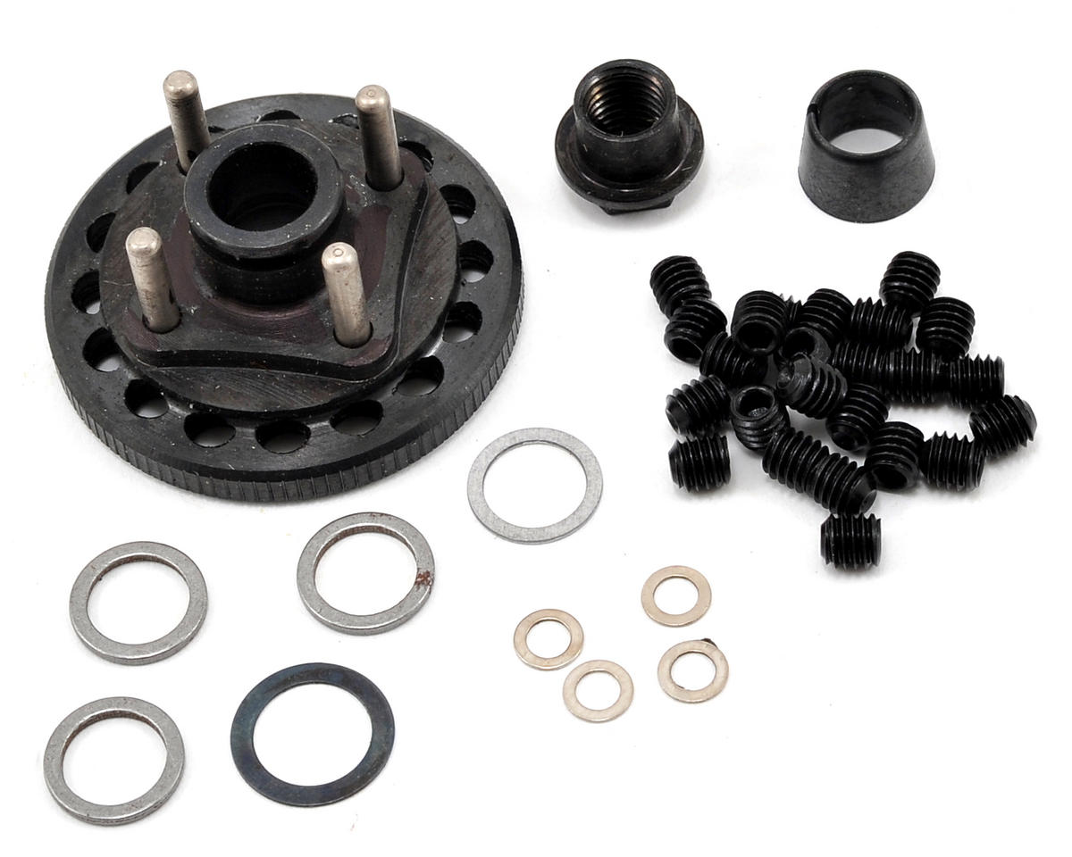 M2C Racing 34mm Steel Quick Change 4 Shoe Adjustable Flywheel & Mounting Hardware Set