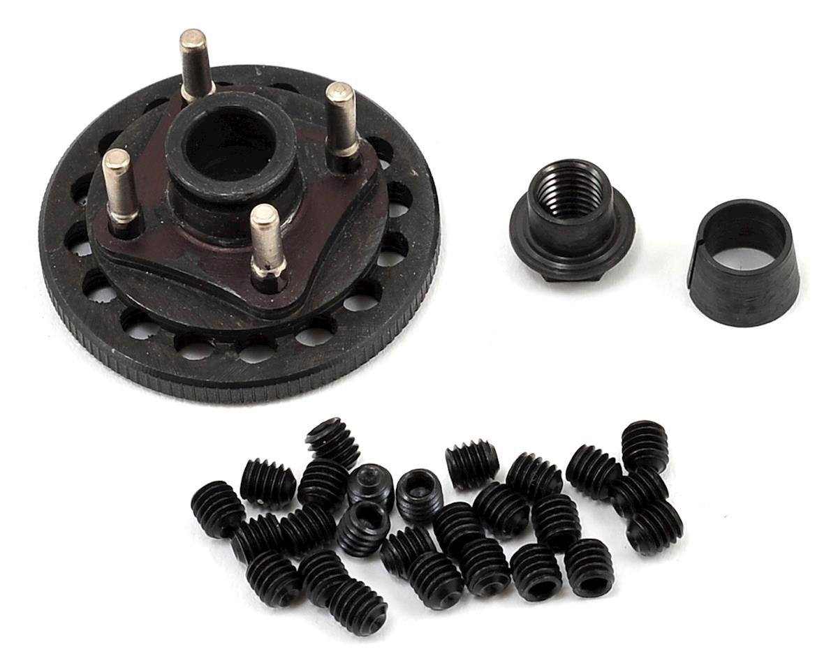 Gen 2 34mm Steel Quick Change 4 Shoe Adjustable Flywheel & Hardware by M2C (OFNA Dirt Pro Late Model)