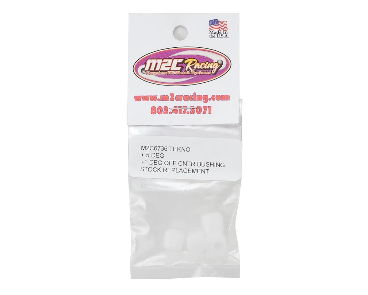 M2C Racing Tekno Delrin Bushing Insert (4) (+0.5/-1 Degree Offset)