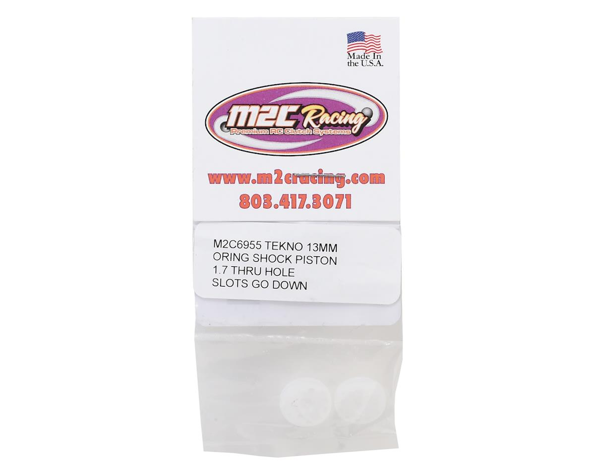 "M2C 13mm EB410 O-Ring ""Thru"" Shock Pistons (2) (2x1.7 Hole)"