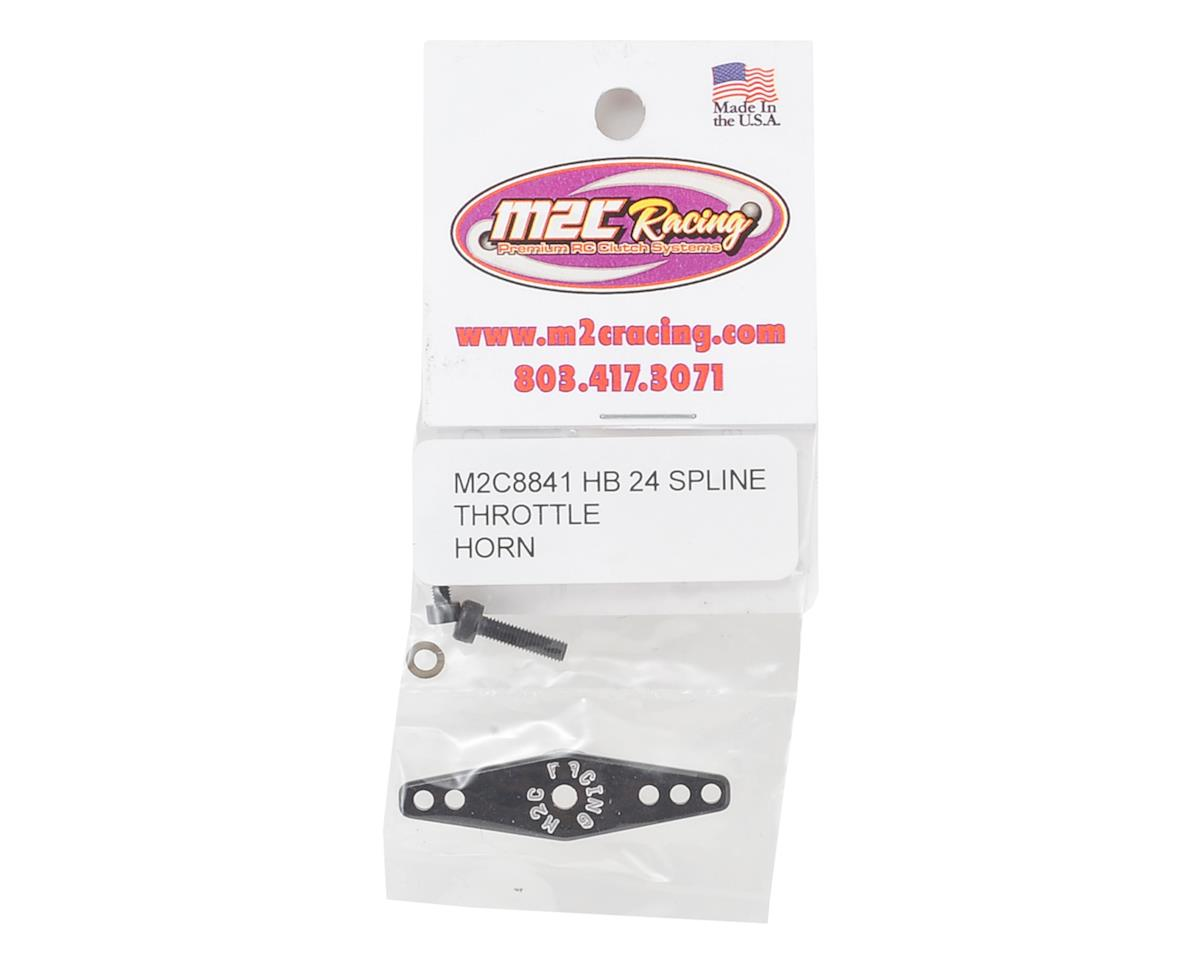 M2C HB Racing D815 Aluminum Throttle Servo Horn (24T)