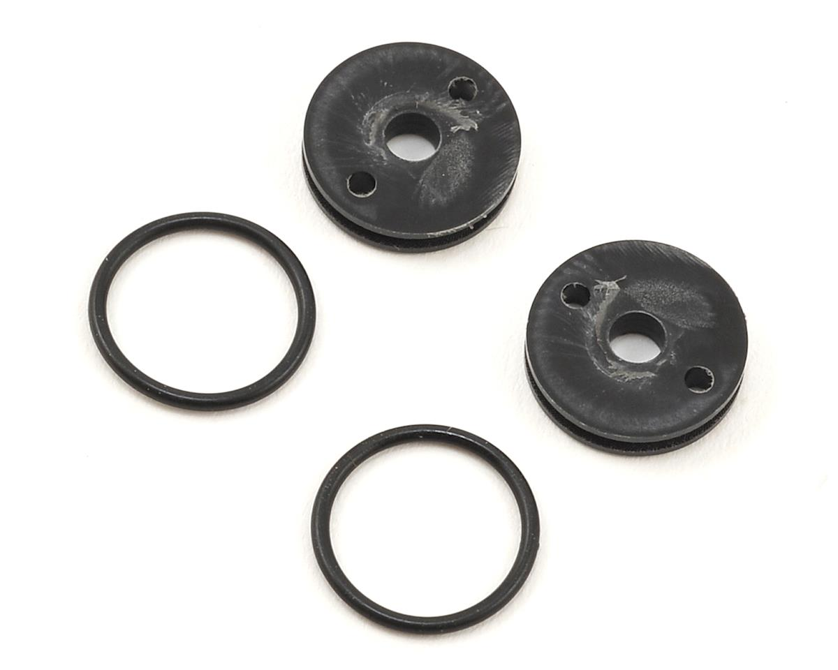 "M2C Racing 12mm TLR O-Ring ""Thru"" Shock Pistons (4) (2x1.6 Hole)"