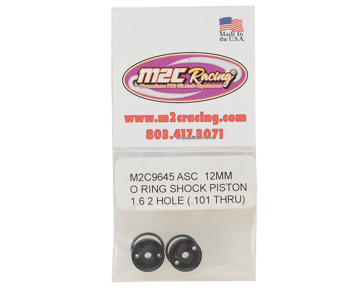 "M2C Racing 12mm Associated O-Ring ""Thru"" Shock Pistons (4) (2x1.6 Hole)"
