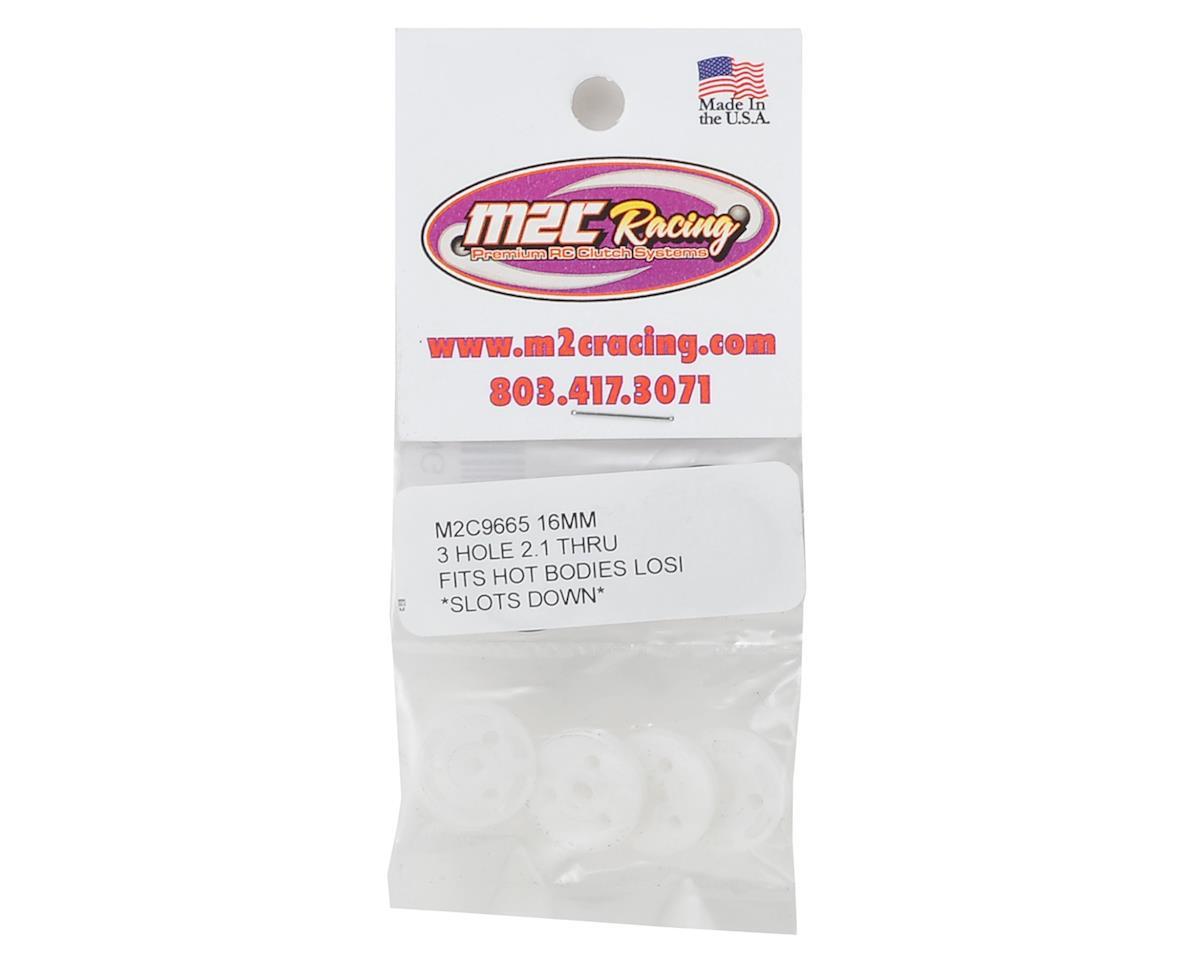 "M2C Racing 16mm Losi/HB O-Ring ""Thru"" Shock Pistons (4) (3x2.1 Hole)"