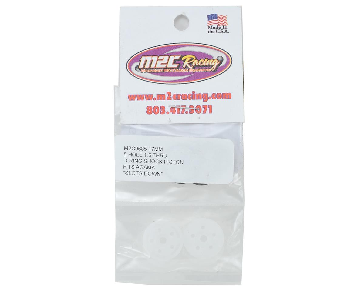 "M2C Racing 17mm Agama O-Ring ""Thru"" Shock Pistons (4) (5x1.6 Hole)"