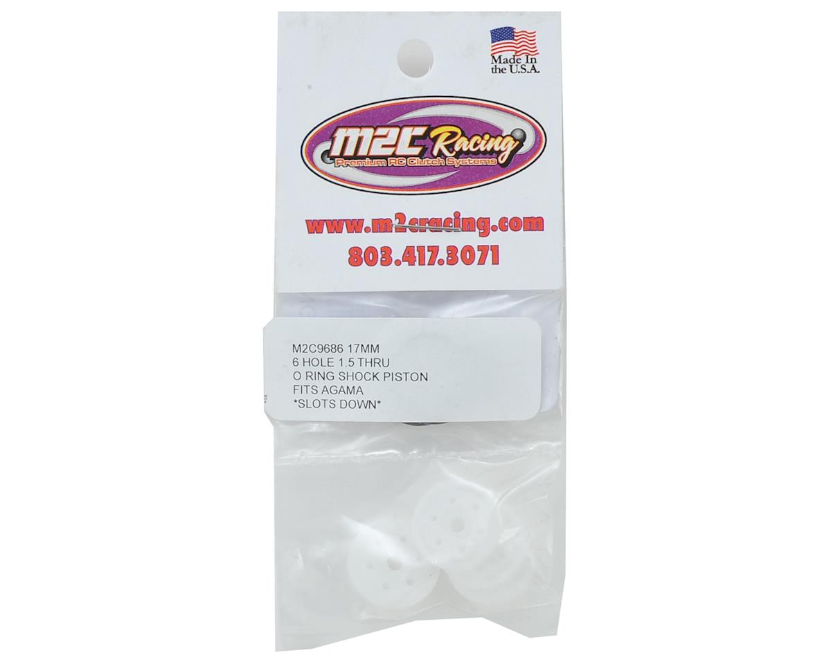 "M2C 17mm Agama O-Ring ""Thru"" Shock Pistons (4) (6x1.5 Hole)"