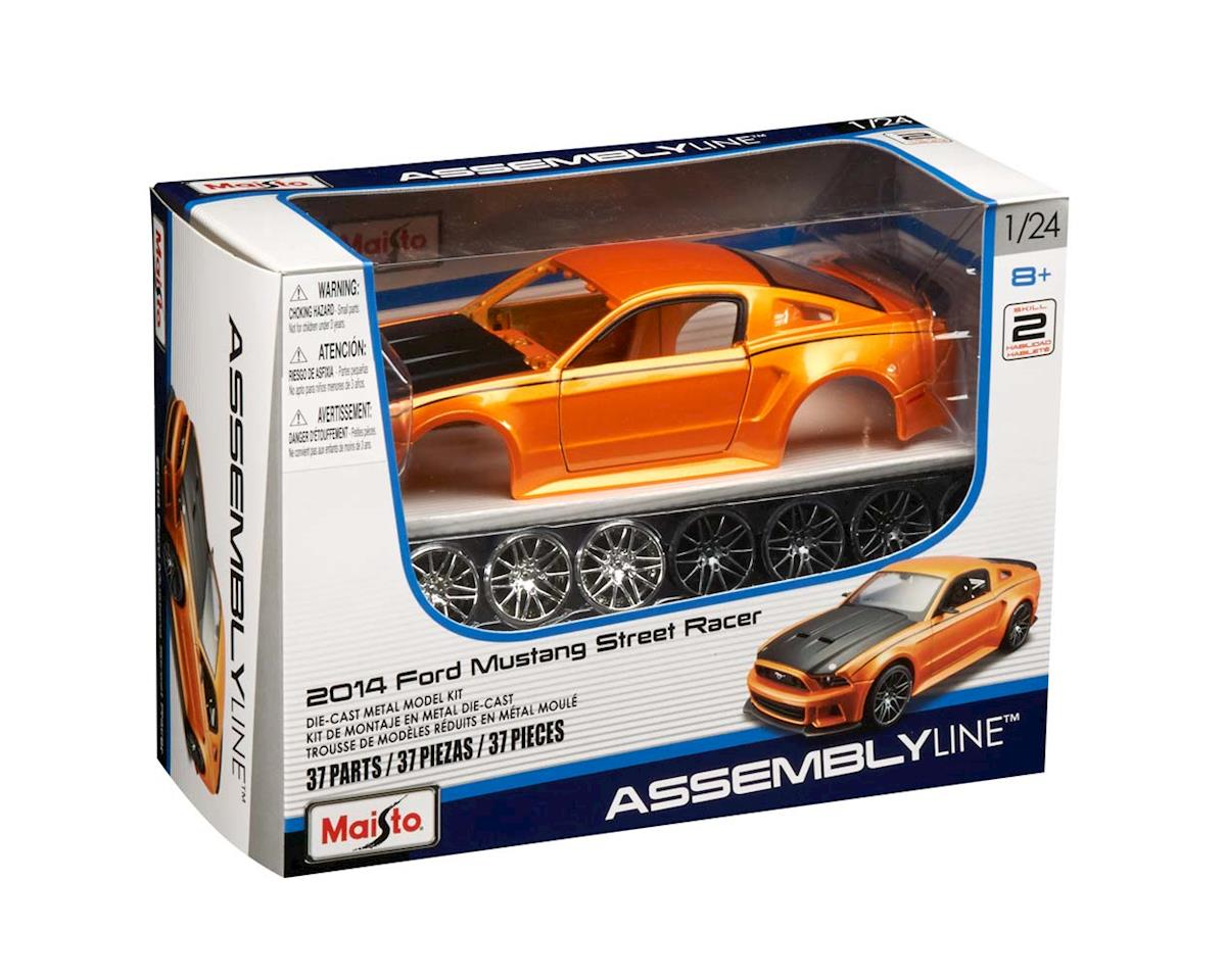Maisto International 39127 1/24 AL 2014 Ford Mustang Street Racer Orange