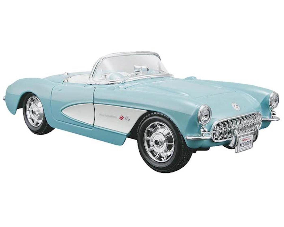 Maisto International 39275 1/24 AL '57 Chevrolet Corvette Red/White Metal