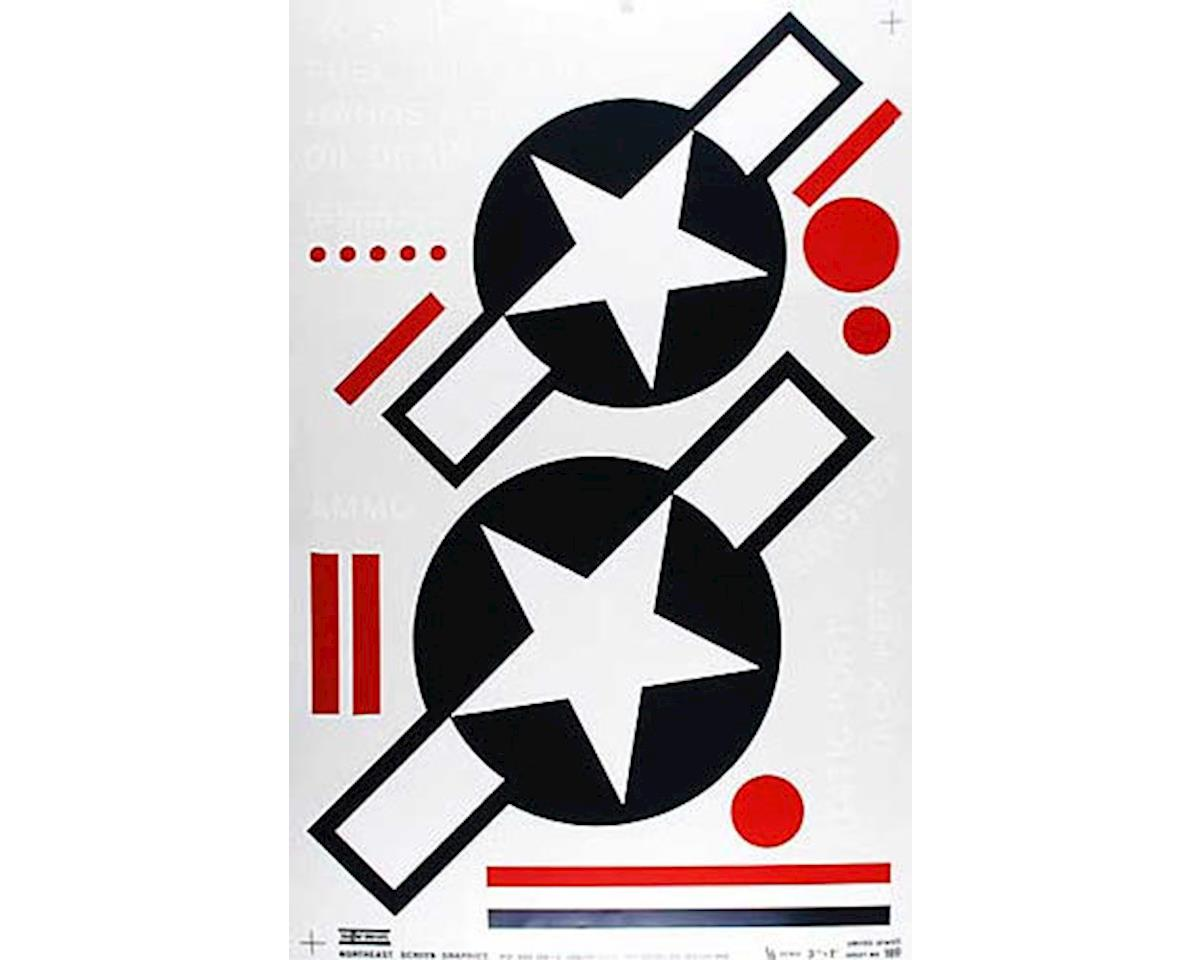 100P Pressure Decal US Stars & Bars 1/4 Scale