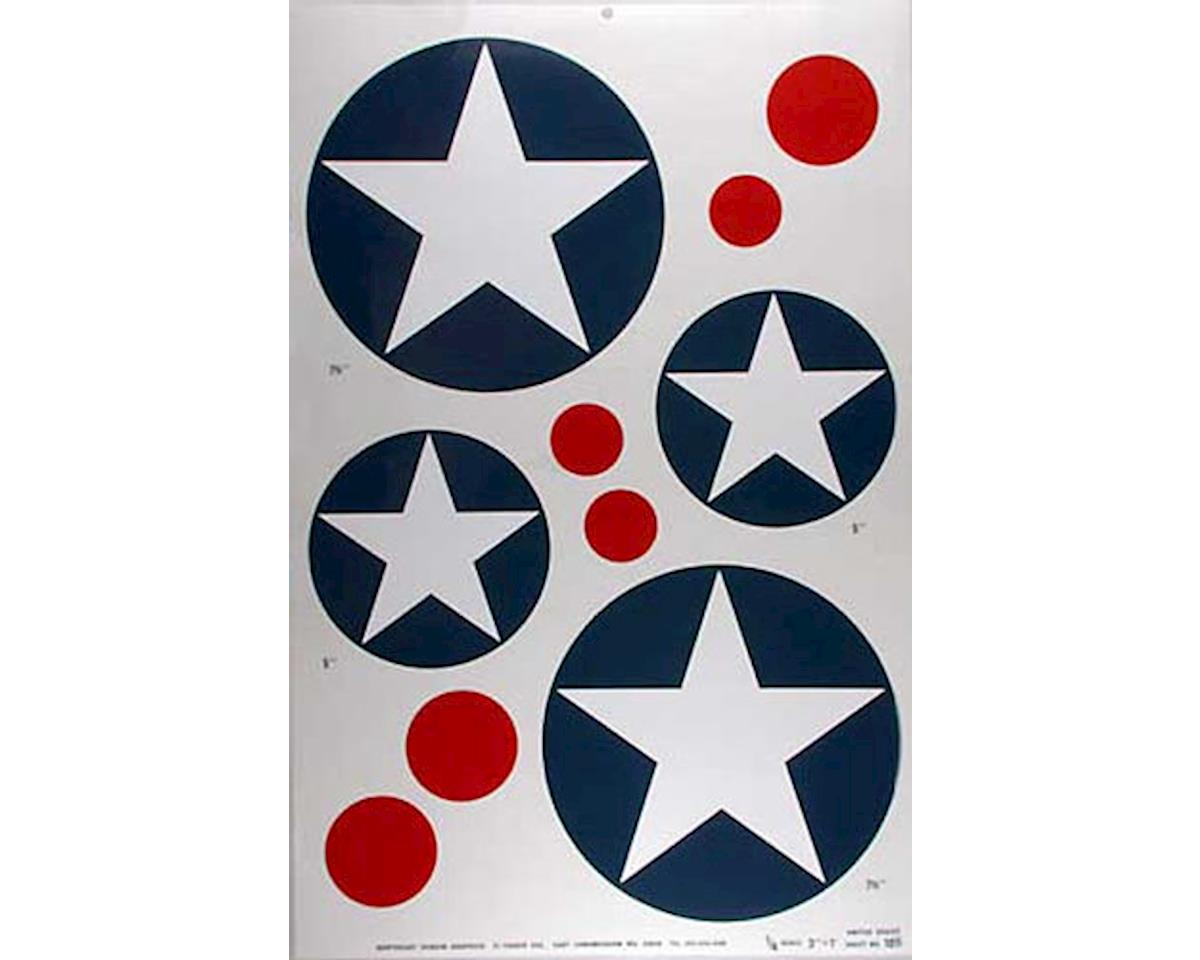 Major Decals 105P Pressure Decal US Stars 1/4 Scale