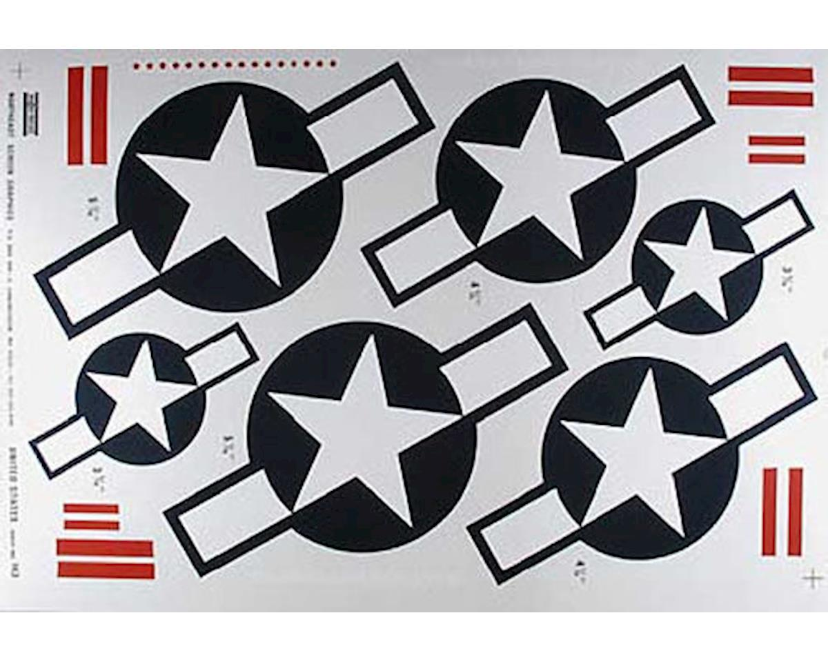 Major Decals 143 Pressure Decal United States Stars w/Bars
