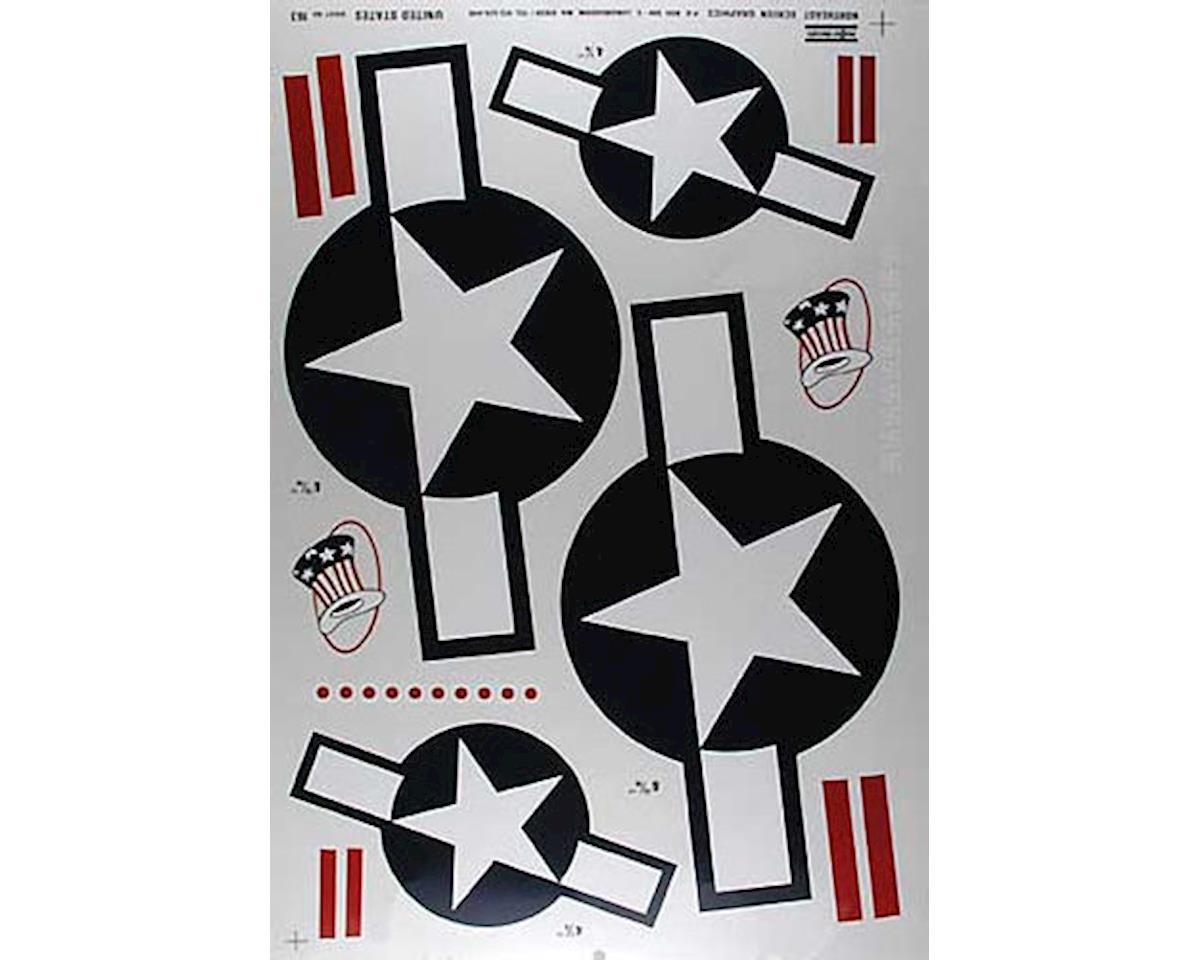 Major Decals 163P Pressure Decal US w/Bars .60