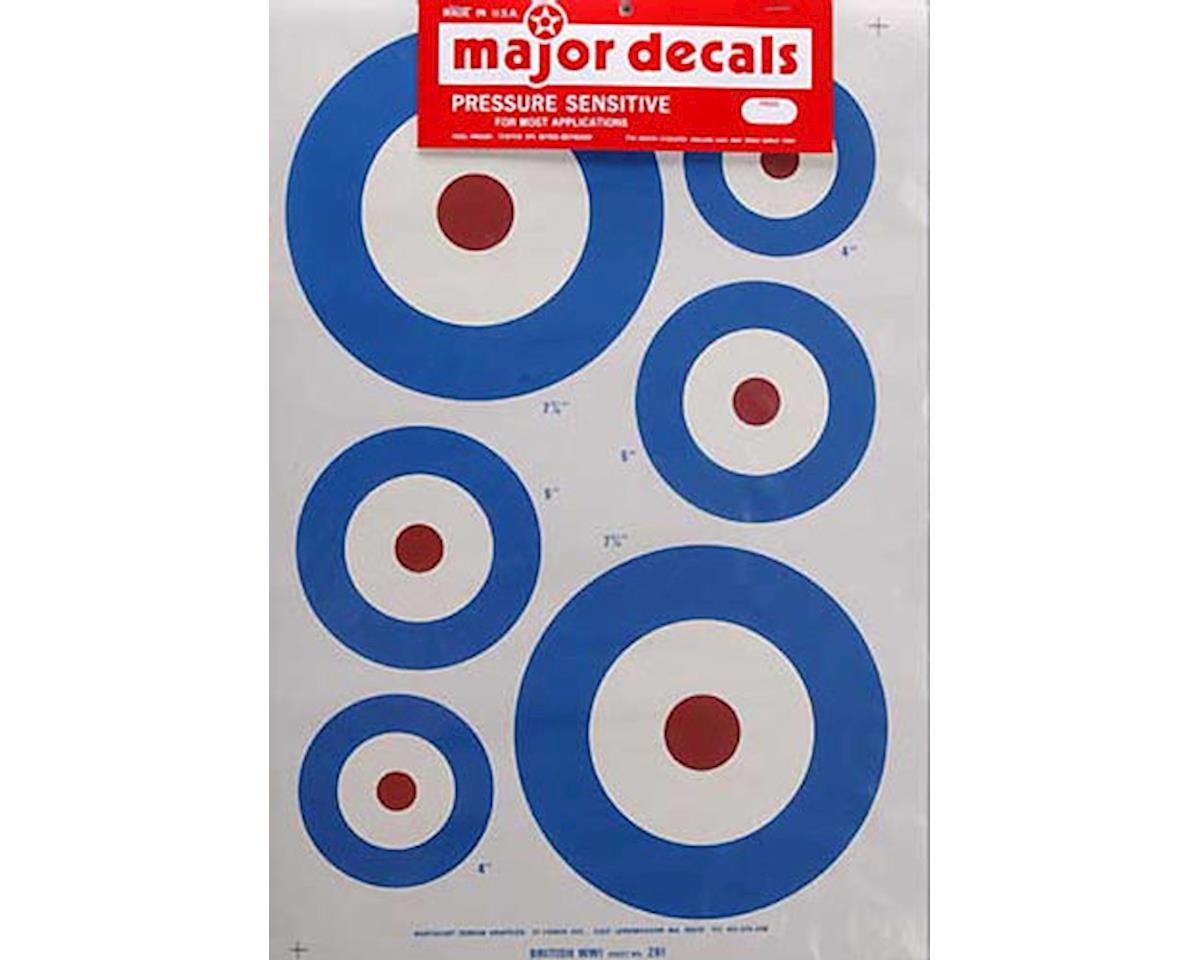 Major Decals 261P Pressure Decal British WWI .60