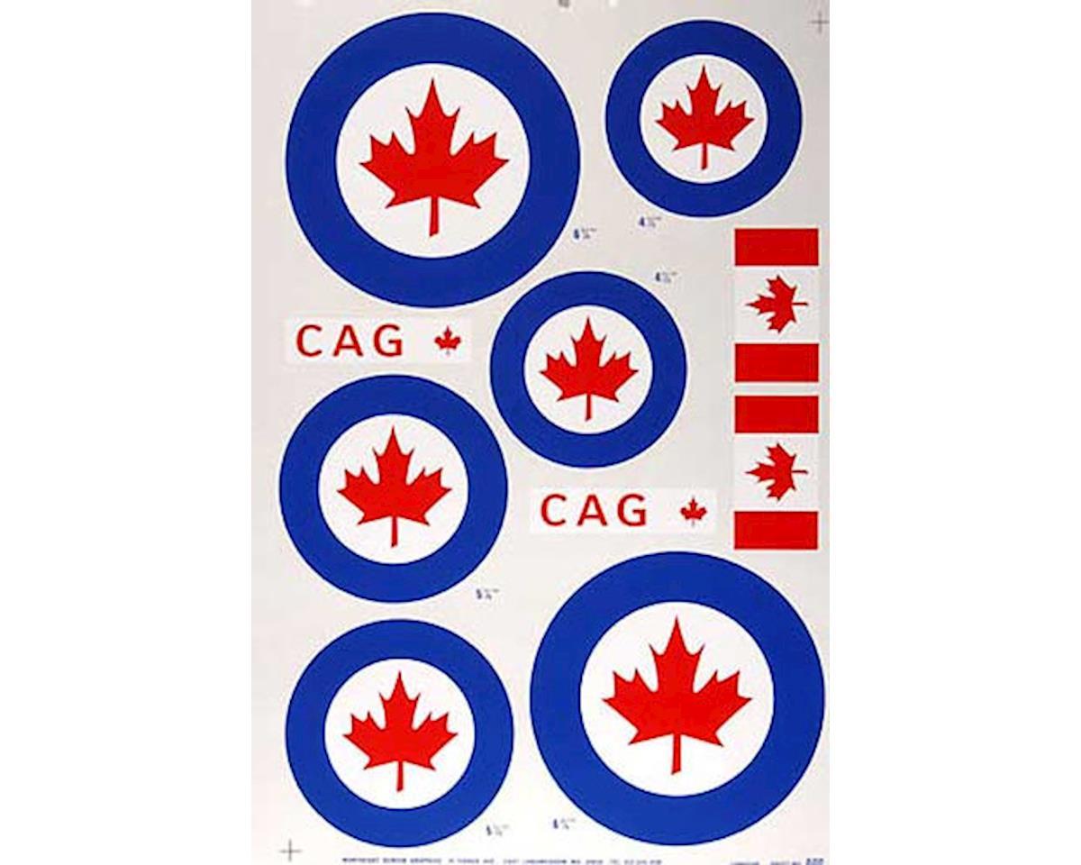 Major Decals 600P Pressure Decal Canadian .60