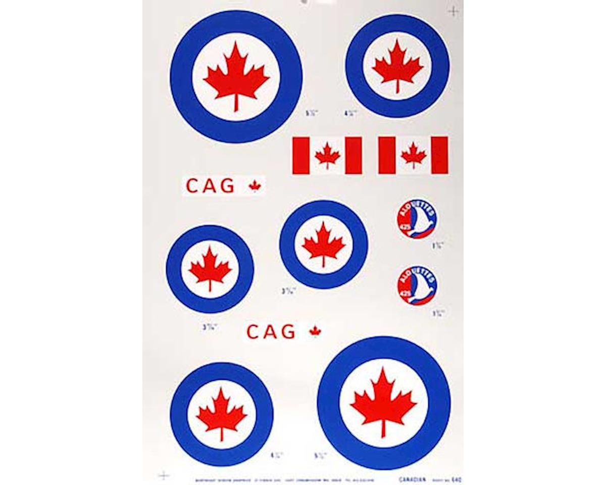 Major Decals 640P Pressure Decal Canadian .40