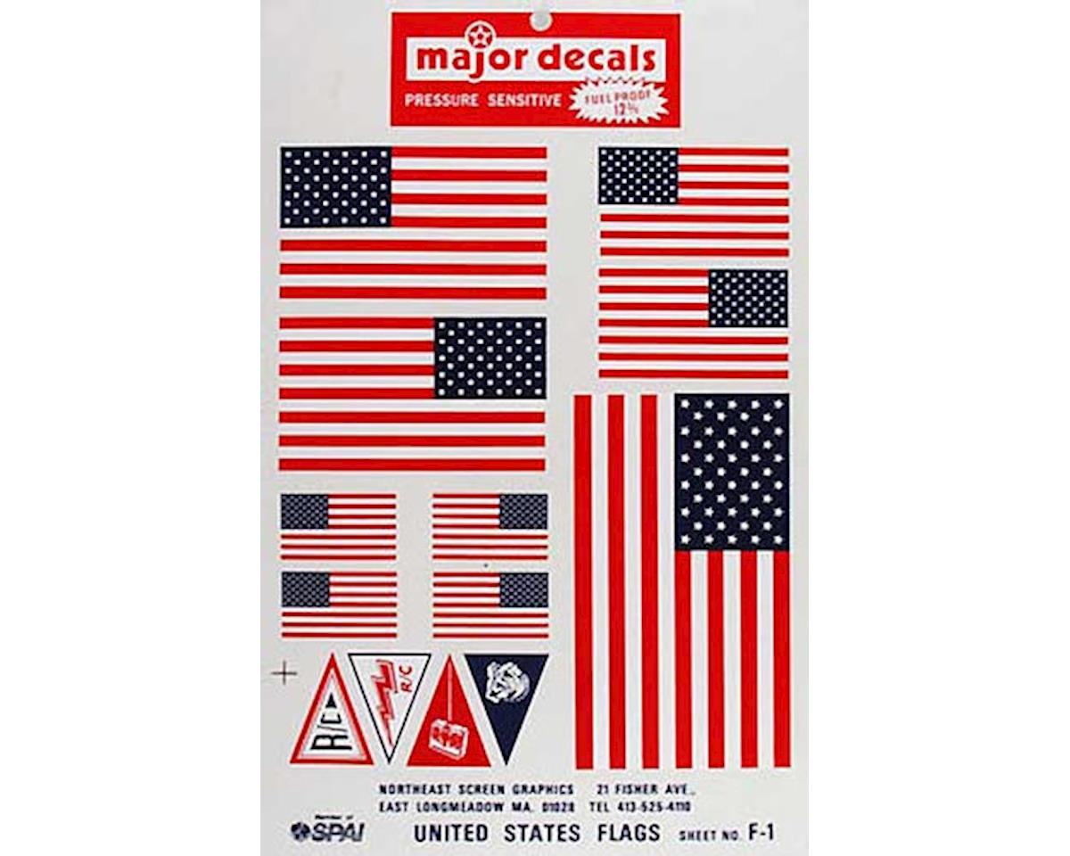 F-1 Pressure Decal US Flags