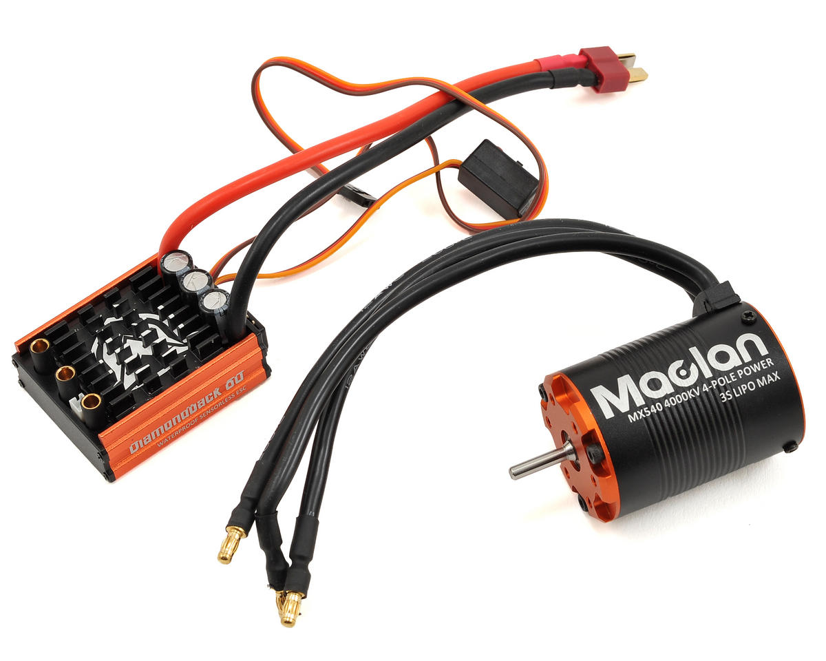 Maclan Diamondback 80A ESC & 540 4-Pole 540 Sensorless Brushless Combo (4000kV)