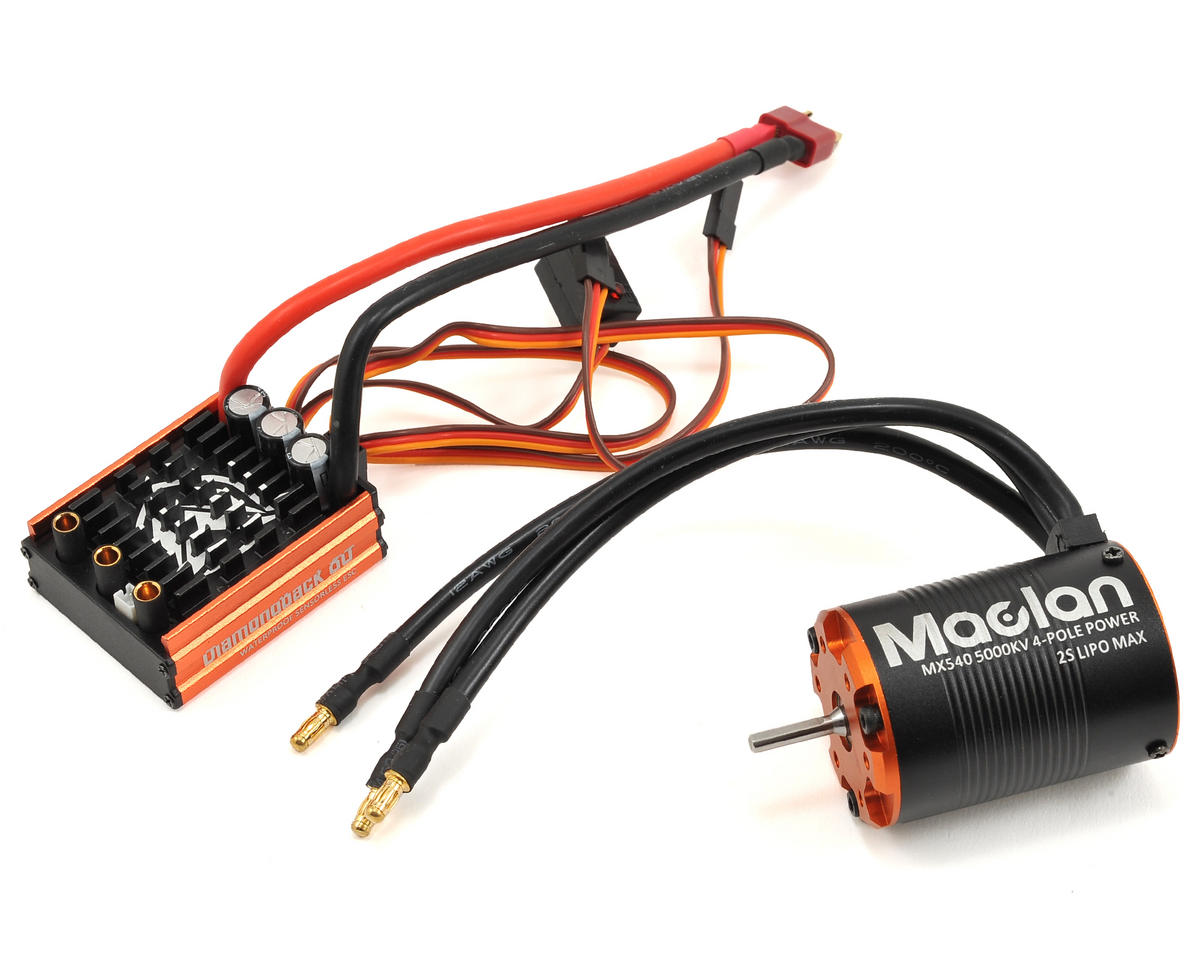 Maclan Diamondback 80A ESC & 540 4-Pole 540 Sensorless Brushless Combo (5000kV)