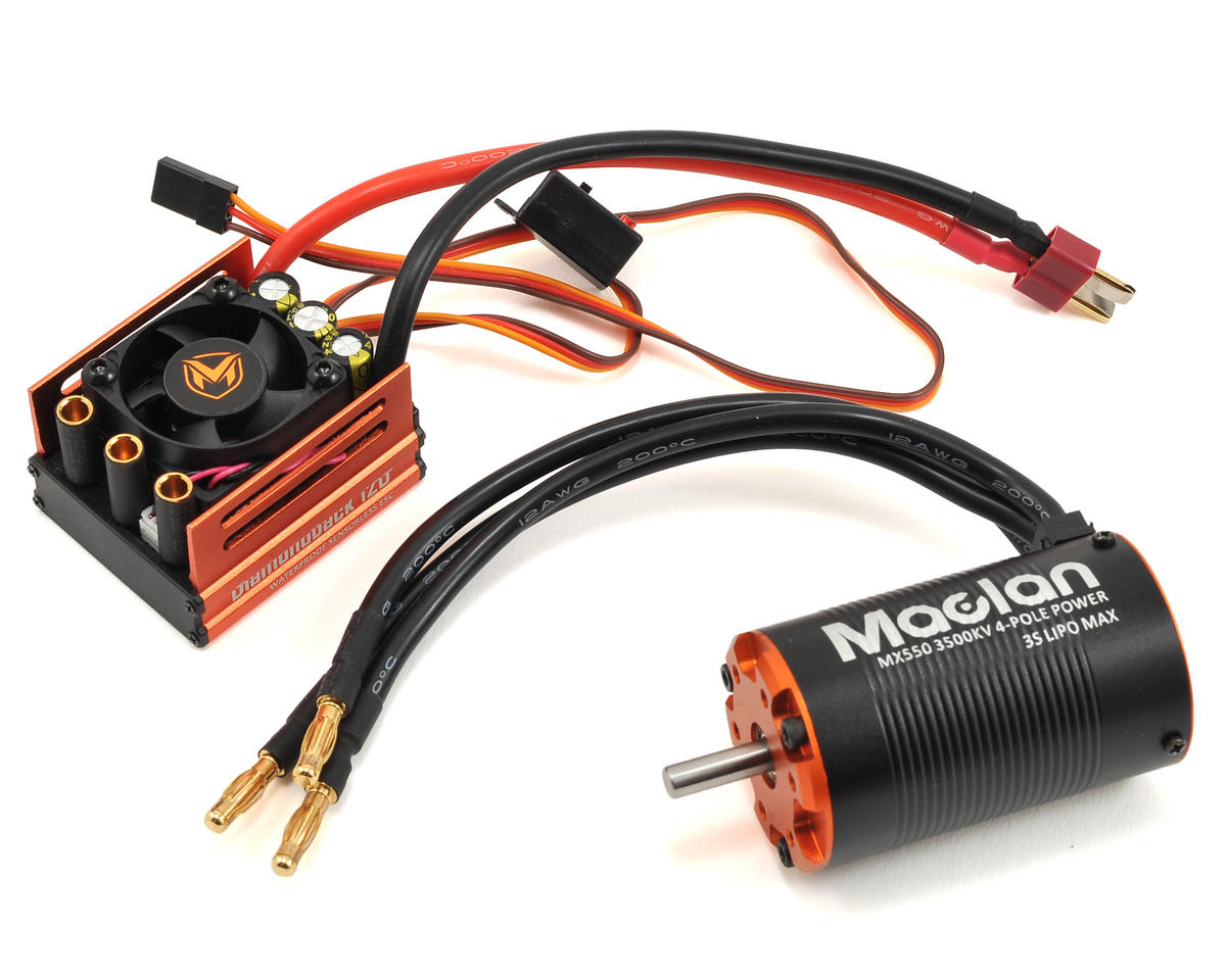 Maclan Diamondback 120A ESC & 550 4-Pole 550 Sensorless Brushless Combo (3500Kv)
