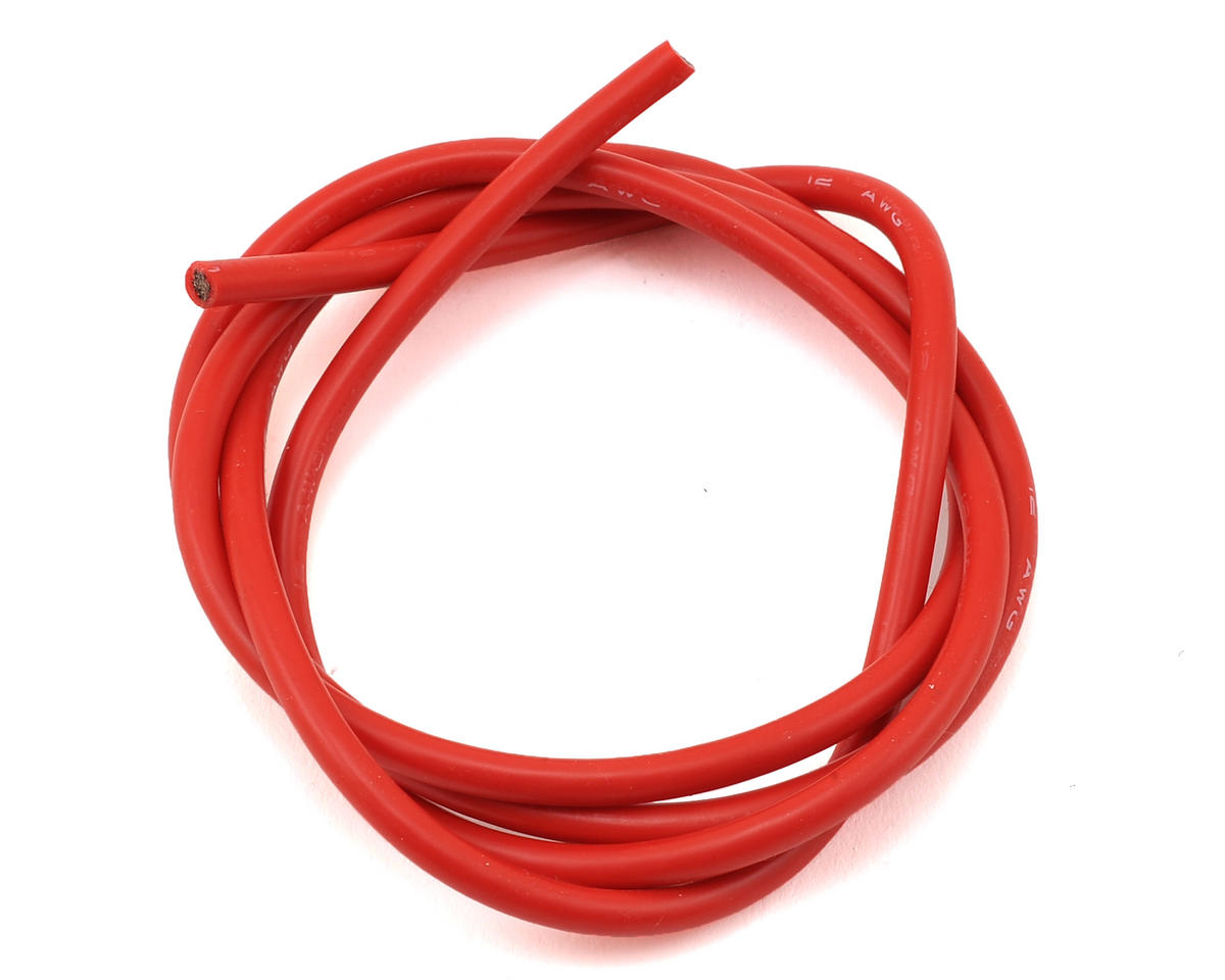 12awg Flex Silicon Wire (Red) (3') by Maclan