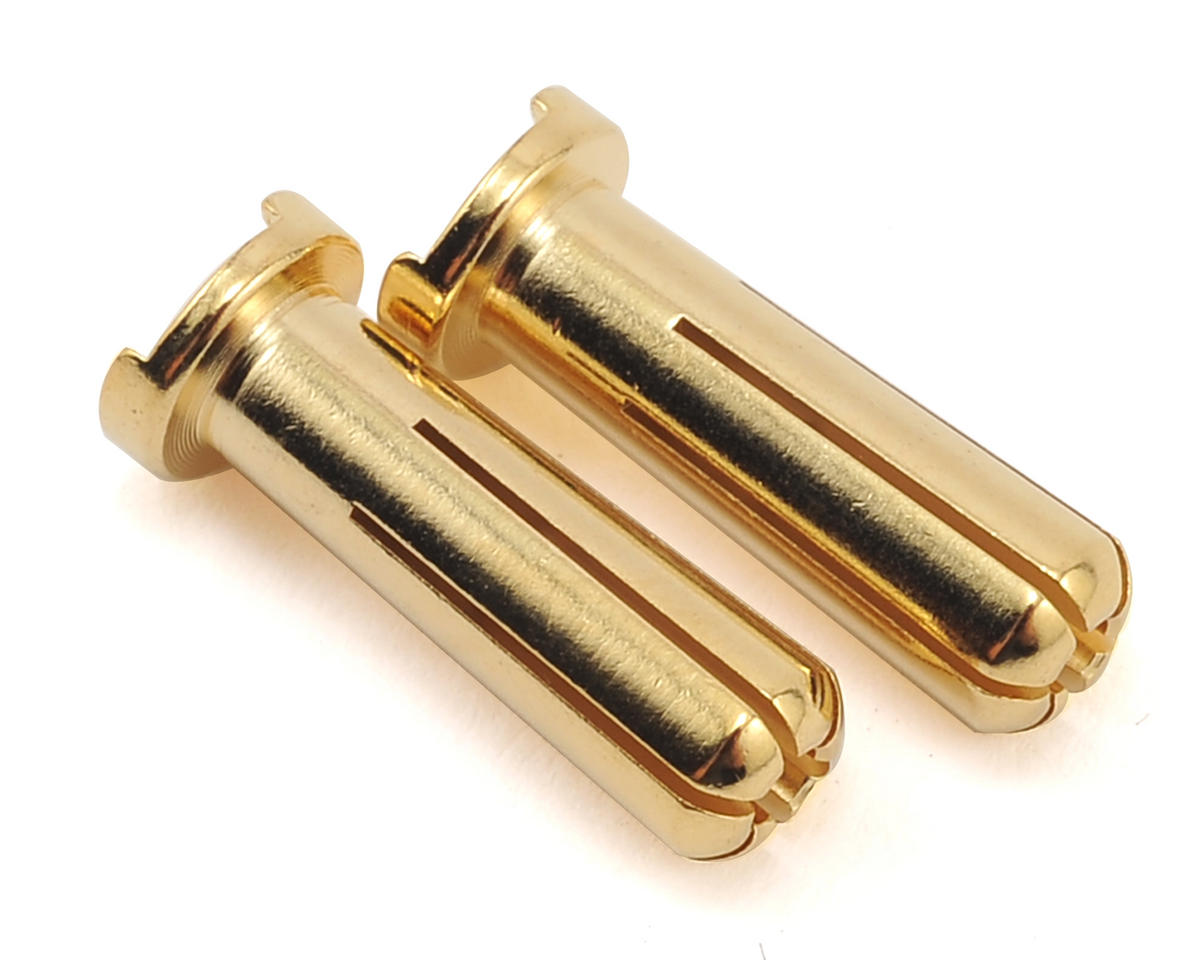 Max Current 5mm Gold Bullet Connectors (2) by Maclan