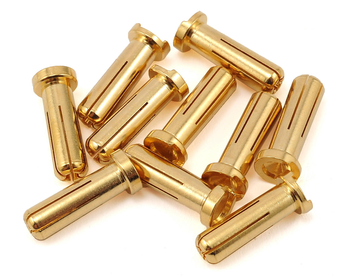 Max Current 5mm Gold Bullet Connectors (10) by Maclan