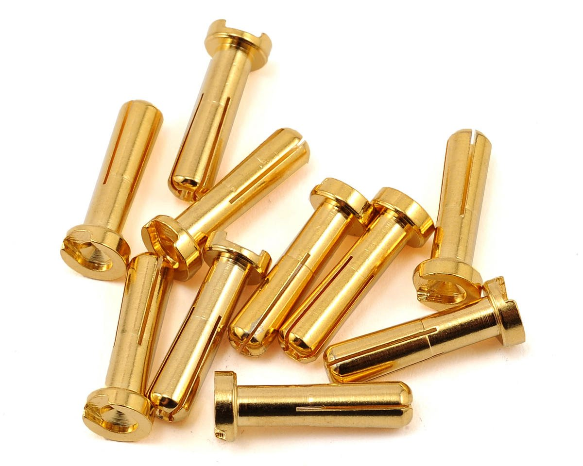 Max Current 4mm Gold Bullet Connectors  (10) by Maclan