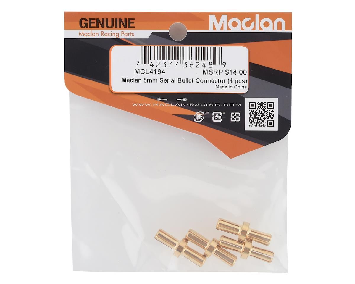 Maclan 5mm Gold Serial Bullet Connectors (4)
