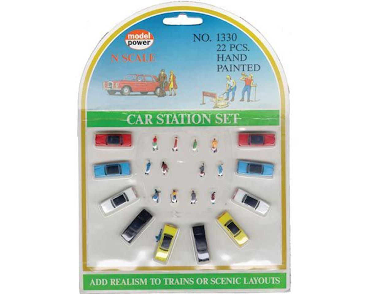 Model Power N Car Station Set