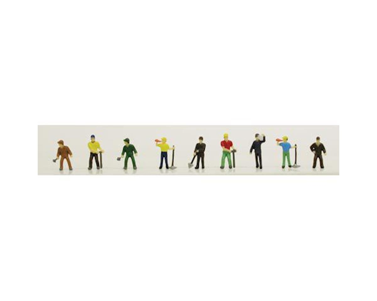 N Work Crew People (Painted) by Model Power