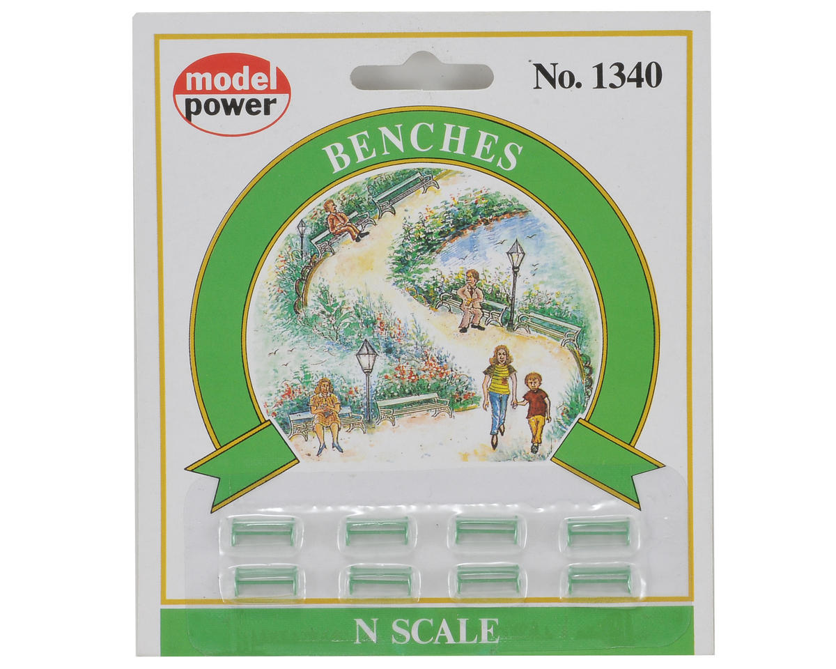 N-Scale Park Benches (8) by Model Power
