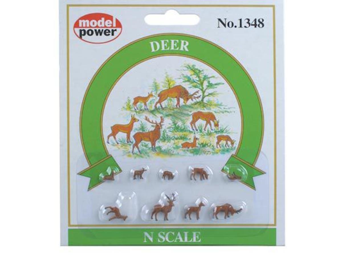 Model Power N Deer & Fawns (7) (Painted)