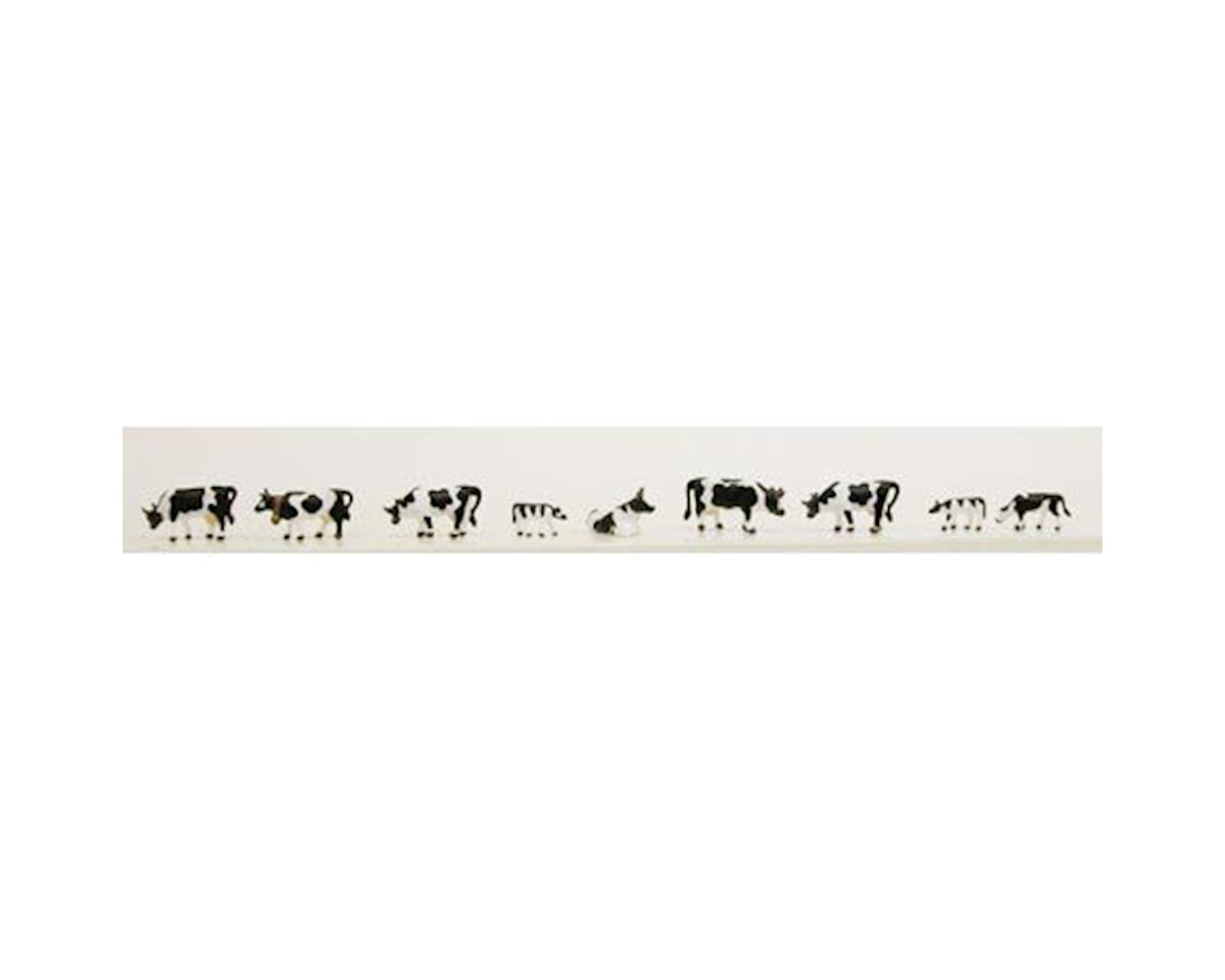 N Cows & Calves, Black/White (9) by Model Power