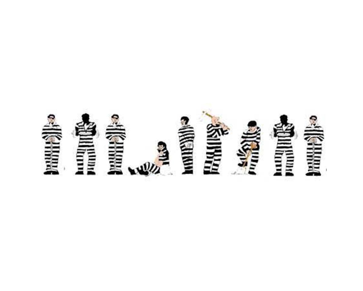 Model Power N Prisoners, Black & White Stripes (9)
