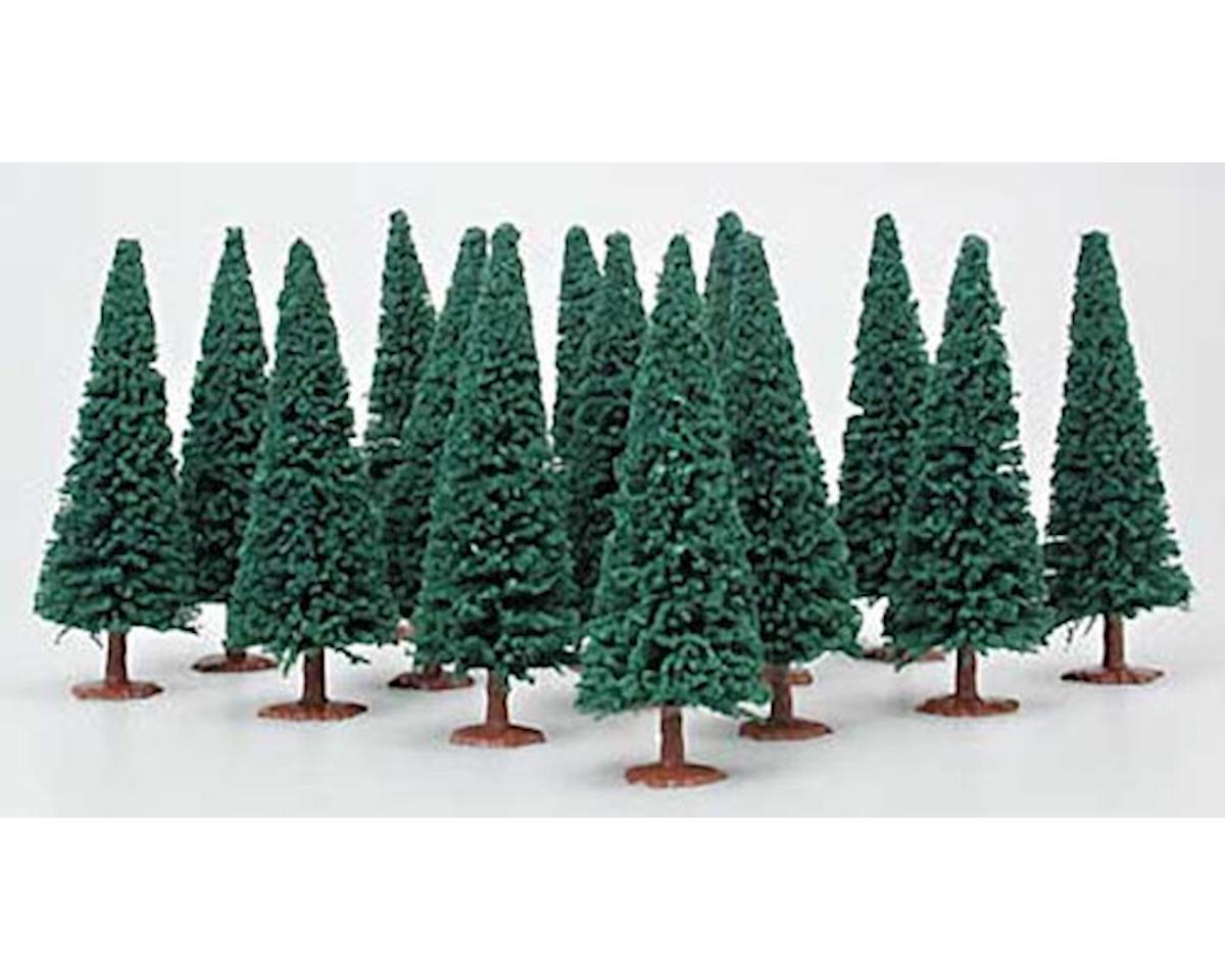 Model Power 1425 Evergreen Trees Dark Green (14) HO