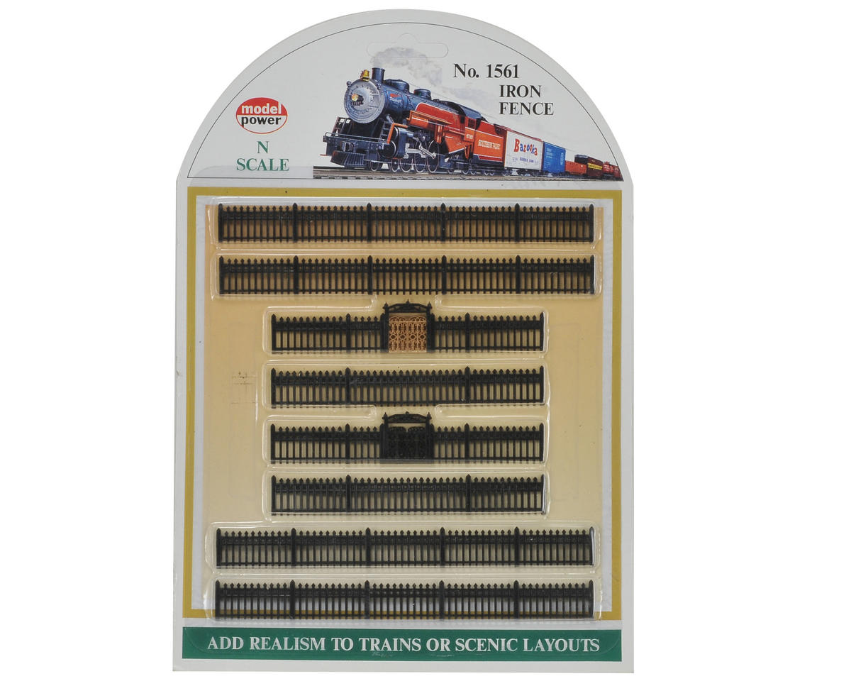 Model Power N-Scale Black Iron Fences (8)