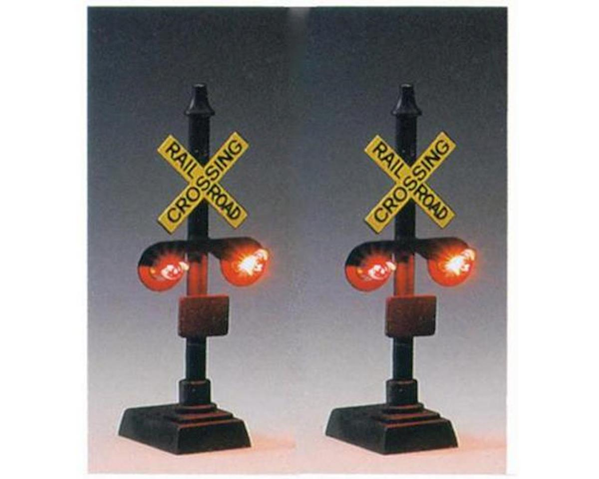 Model Power HO Railroad Crossing Signal w/Relay Box