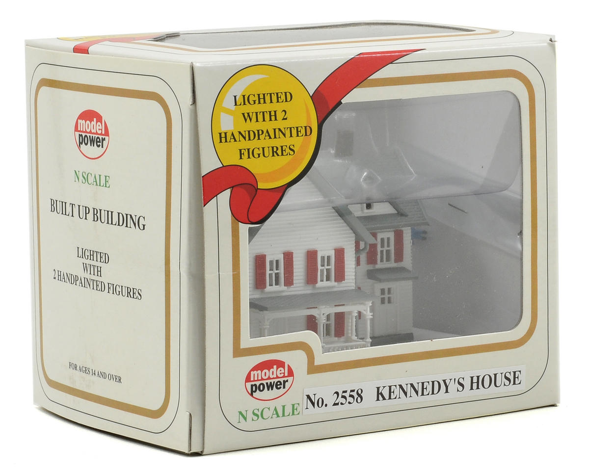 "Model Power N-Scale Built-Up ""Kennedy's House"" w/Figures (Lighted)"