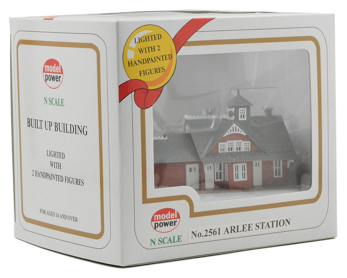 "Model Power N-Scale Built-Up ""Arlee Station"" w/Figures (Lighted)"