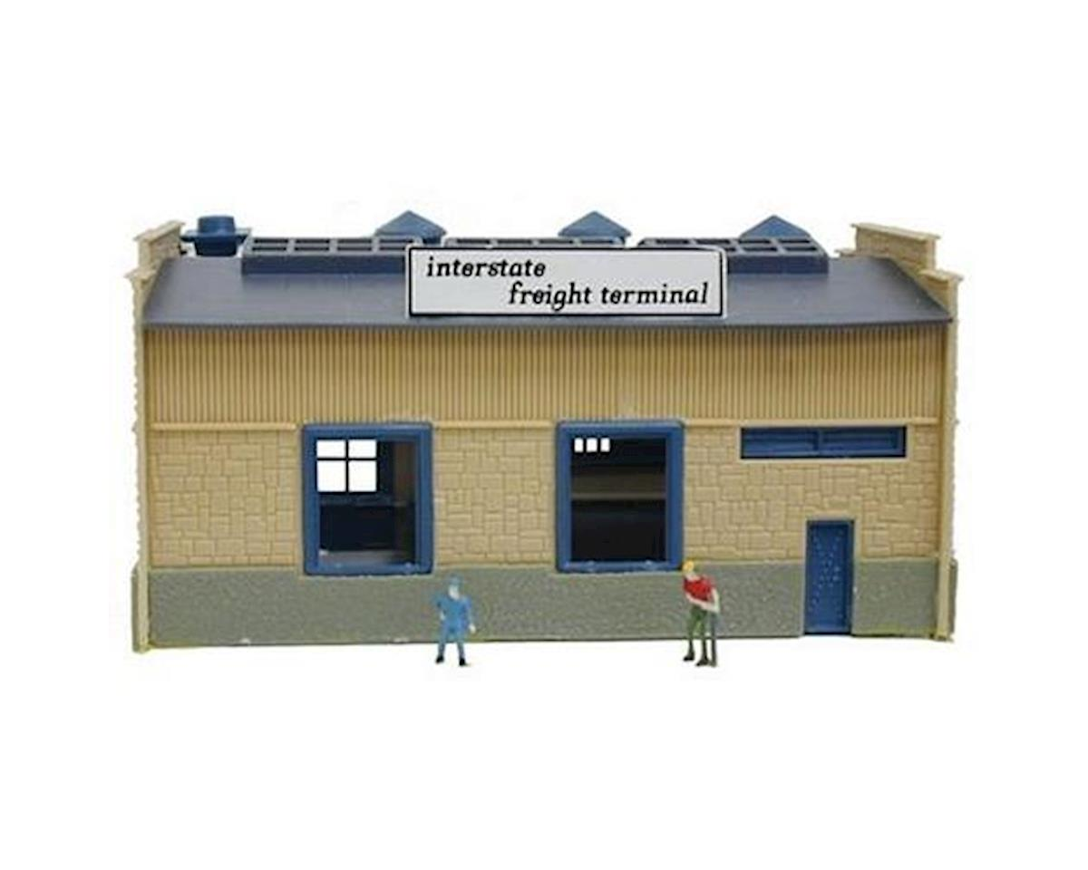 Model Power N B/U CF Truck Depot, Lighted w/Figures