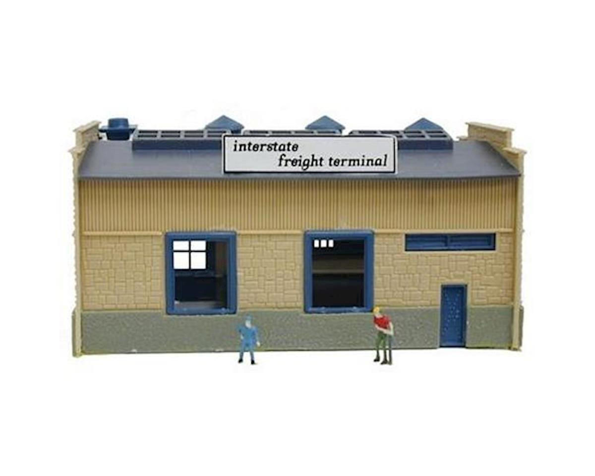 N B/U CF Truck Depot, Lighted w/Figures by Model Power