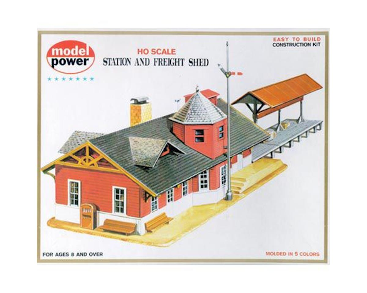 Model Power HO KIT Station & Freight Shed