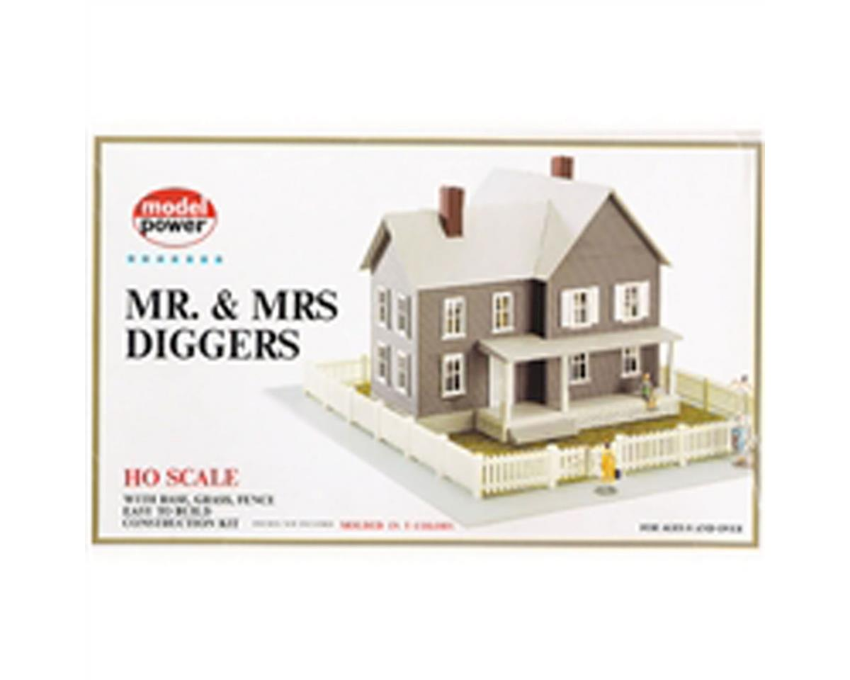 HO KIT MR & MRS DIGGERS by Model Power