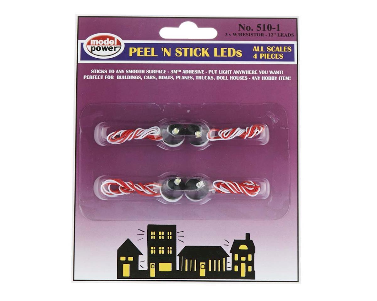 Model Power 510-1 Peel 'N Stick LEDs (4pcs) 3V (20mA)