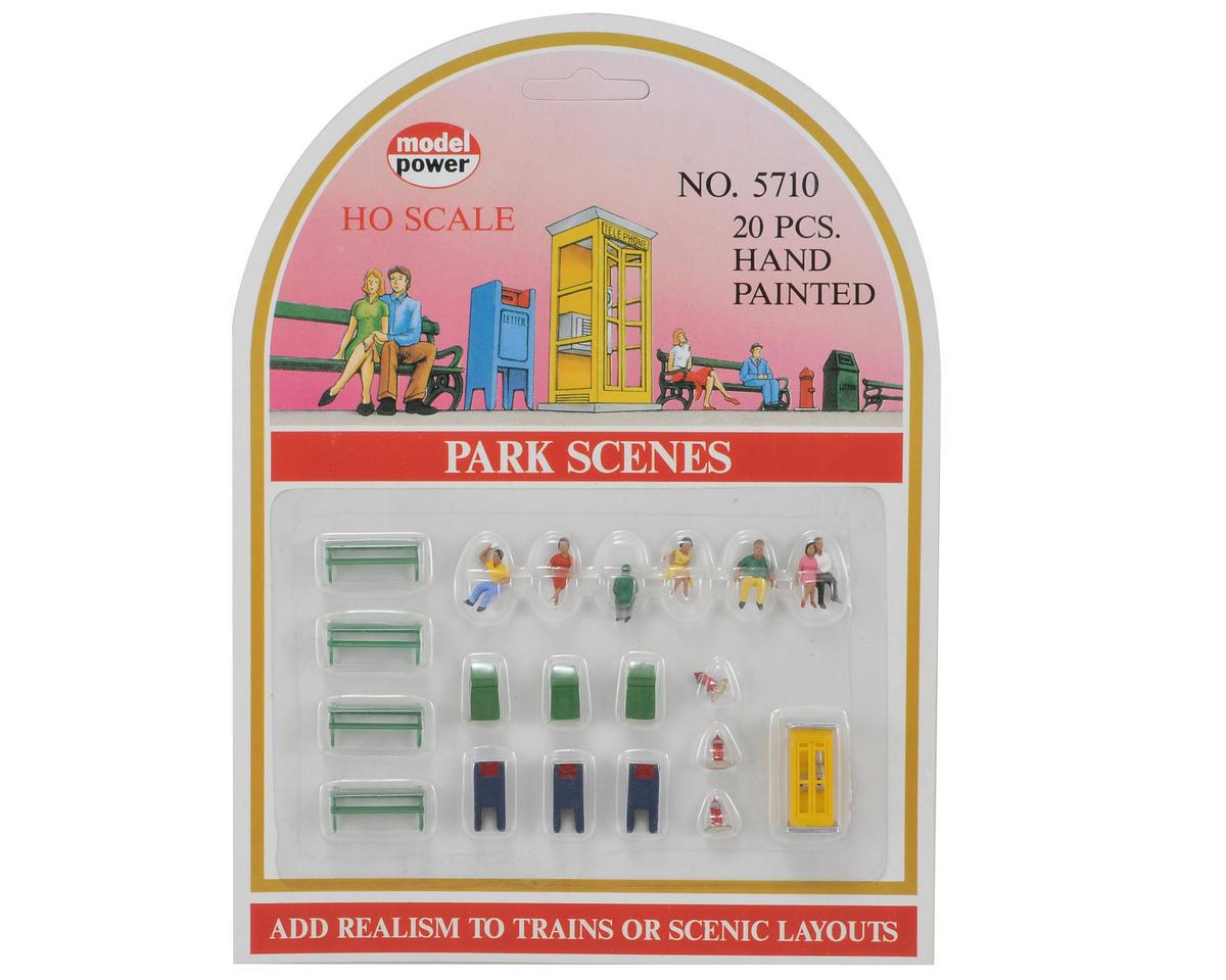 Model Power HO-Scale Park Scene Set (20)