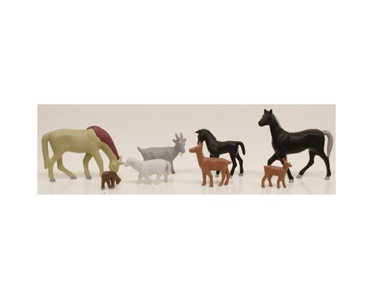 HO Assorted Livestock (8) by Model Power