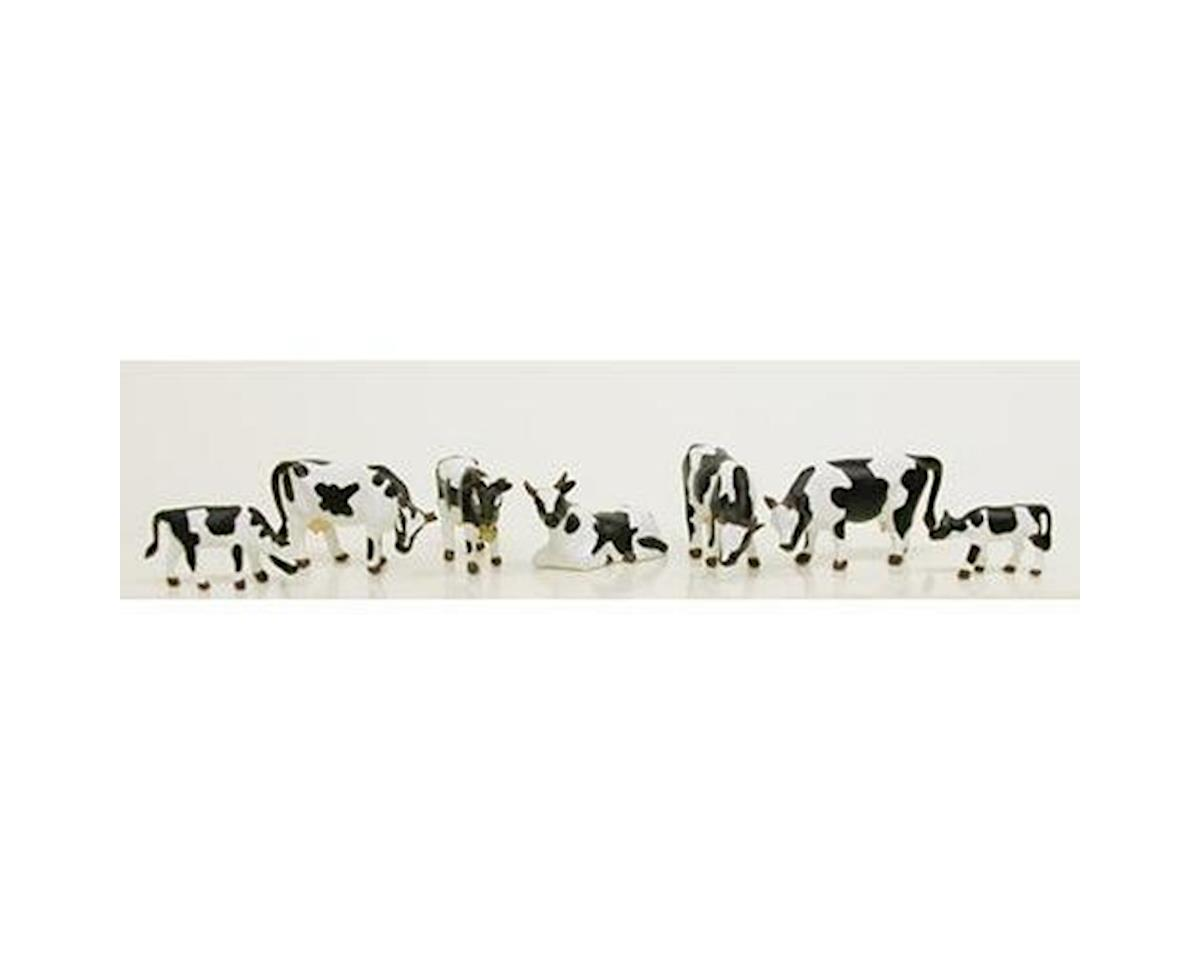Model Power HO Cows & Calves, Black/White (6)