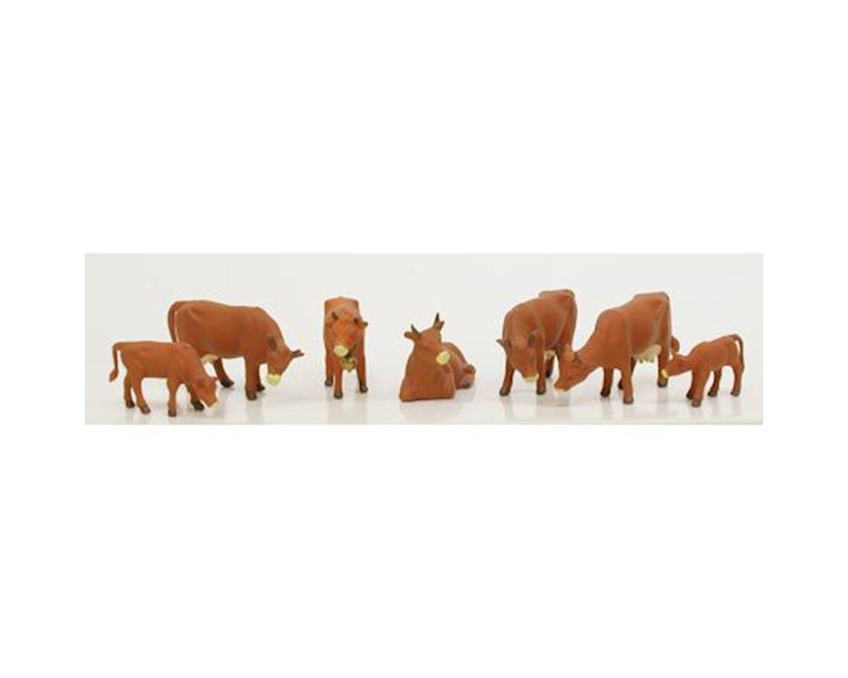 Model Power HO Cows & Calves, Brown (7)
